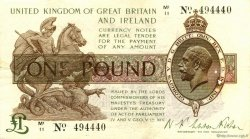 1 Pound ANGLETERRE  1922 P.359a TTB