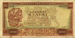 1000 Drachmes GRÈCE  1956 P.194a TB