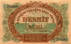 10 Rubli LETTONIE  1919 P.04e SUP+