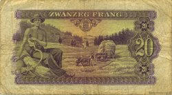 20 Frang LUXEMBOURG  1943 P.42a TB