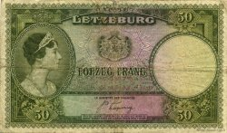 50 Frang LUXEMBOURG  1944 P.46a TB