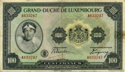 100 Francs LUXEMBOURG  1934 P.39a TTB