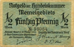1/2 Mark MEMEL  1922 P.01 TTB