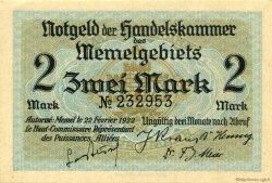 2 Mark MEMEL  1922 P.03a SPL