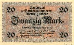 20 Mark MEMEL  1922 P.06b SPL