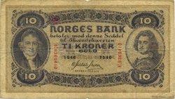 10 Kroner NORVÈGE  1940 P.08c TB
