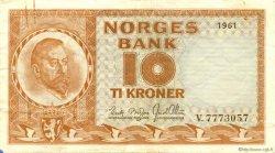 10 Kroner NORVÈGE  1961 P.31c TTB+