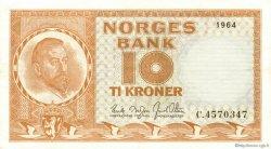 10 Kroner NORVÈGE  1964 P.31c SUP