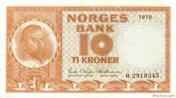 10 Kroner NORVÈGE  1970 P.31e SPL