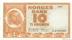 10 Kroner NORVÈGE  1971 P.31f SPL