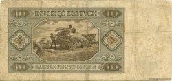 10 Zlotych POLOGNE  1948 P.136 TB