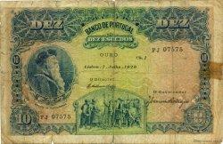 10 Escudos PORTUGAL  1920 P.117 B