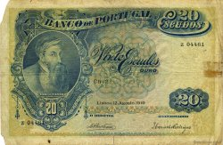 20 Escudos PORTUGAL  1919 P.118 B