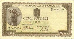 500 Lei ROUMANIE  1943 P.051a TTB+