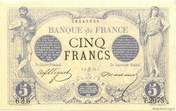 5 Francs NOIR FRANCE  1873 F.01.19 SPL+