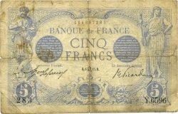 5 Francs BLEU FRANCE  1915 F.02.29 B+