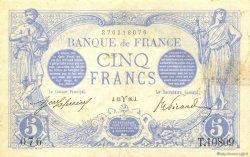 5 Francs BLEU FRANCE  1916 F.02.37 TTB