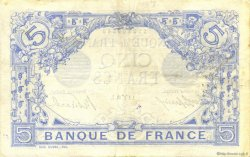 5 Francs BLEU FRANCE  1915 F.02.25 TTB