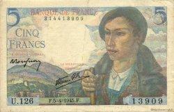 5 Francs BERGER FRANCE  1945 F.05.06 TTB+