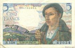 5 Francs BERGER FRANCE  1947 F.05.07 TTB à SUP