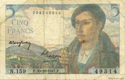 5 Francs BERGER FRANCE  1947 F.05.07a TB
