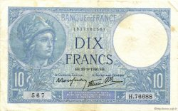 10 Francs MINERVE modifié FRANCE  1940 F.07.15 TTB