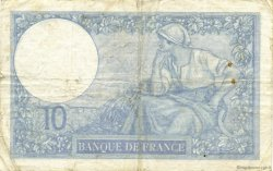 10 Francs MINERVE modifié FRANCE  1941 F.07.26 TB