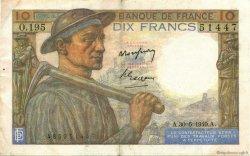 10 Francs MINEUR FRANCE  1949 F.08.22 TTB+