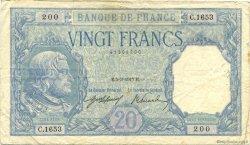 20 Francs BAYARD FRANCE  1917 F.11.02 TB