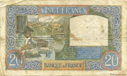20 Francs SCIENCE ET TRAVAIL FRANCE  1940 F.12.09 pr.TTB