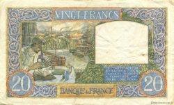 20 Francs SCIENCE ET TRAVAIL FRANCE  1941 F.12.16 TTB+