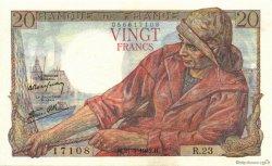 20 Francs PÊCHEUR FRANCE  1942 F.13.02 SUP+