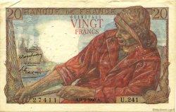 20 Francs PÊCHEUR FRANCE  1950 F.13.17 pr.TTB