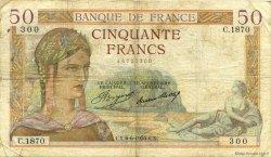 50 Francs CÉRÈS FRANCE  1935 F.17.10 pr.TB