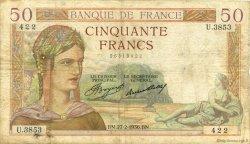 50 Francs CÉRÈS FRANCE  1936 F.17.22 B+