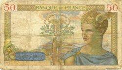 50 Francs CÉRÈS modifié FRANCE  1937 F.18.01 B