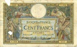 100 Francs LUC OLIVIER MERSON avec LOM FRANCE  1908 F.22.01 AB