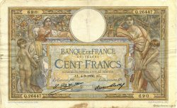 100 Francs LUC OLIVIER MERSON grands cartouches FRANCE  1930 F.24.09 B+