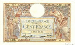 100 Francs LUC OLIVIER MERSON grands cartouches FRANCE  1935 F.24.14 pr.SUP