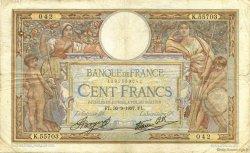 100 Francs LUC OLIVIER MERSON type modifié FRANCE  1937 F.25.02 TB