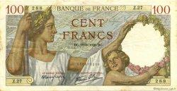 100 Francs SULLY FRANCE  1939 F.26.01 TTB+