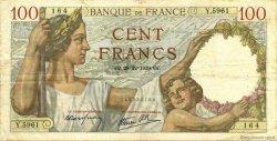 100 Francs SULLY FRANCE  1939 F.26.19 TTB