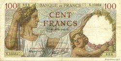 100 Francs SULLY FRANCE  1940 F.26.38 TB+