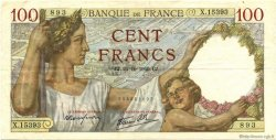 100 Francs SULLY FRANCE  1940 F.26.39 TTB