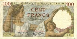 100 Francs SULLY FRANCE  1941 F.26.46 TTB