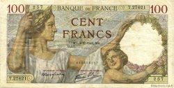 100 Francs SULLY FRANCE  1942 F.26.64 TB