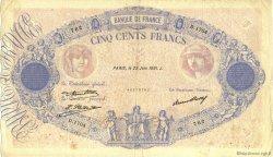 500 Francs BLEU ET ROSE FRANCE  1931 F.30.34 TB+