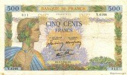 500 Francs LA PAIX FRANCE  1942 F.32.36 TB+