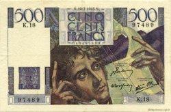 500 Francs CHATEAUBRIAND FRANCE  1945 F.34.01 TTB+