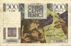500 Francs CHATEAUBRIAND FRANCE  1948 F.34.08 pr.TTB